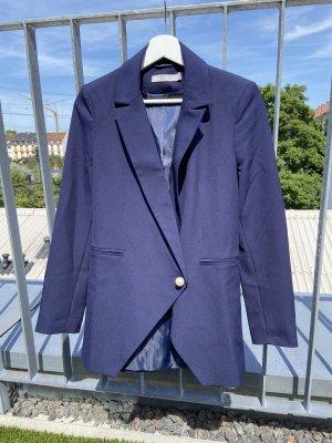 Asos Lange blazer blauw