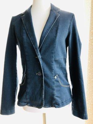 Blazer aus Baumwolle in Jeansoptik