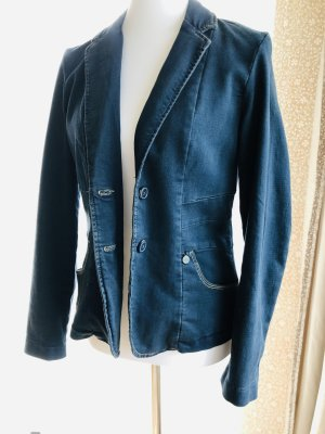 Sandwich Blazer in jeans blu scuro
