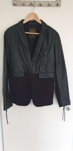 Diesel Blazer in pelle nero