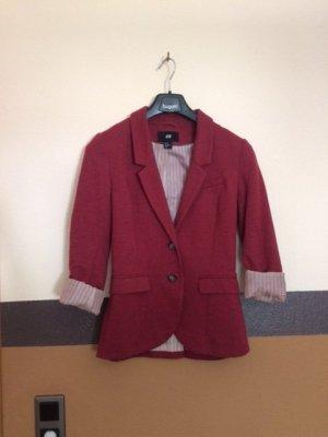 H&M Jersey blazer rood