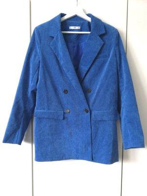 Blazer aus Samtcord in Blau