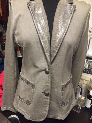 Arizona Blazer sweat argenté-gris clair coton