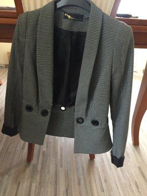 Wool Blazer silver-colored-white cotton