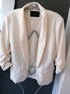 Vila Long Blazer cream
