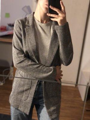 H&M Jersey blazer zwart-lichtgrijs