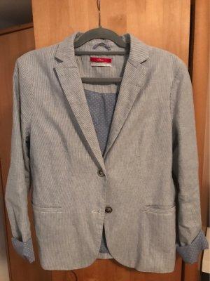 s.Oliver Denim Blazer slate-gray cotton