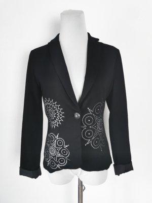 Jersey Blazer black-silver-colored