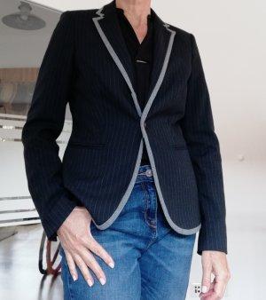 Esprit Casual Denim Denim Blazer grey-dark blue cotton