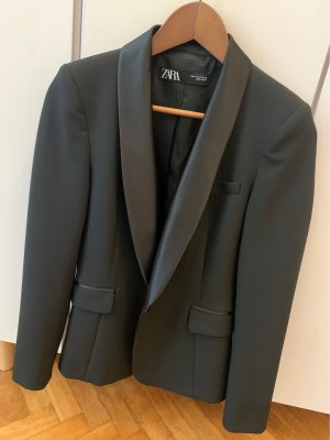 Zara Blazer de esmoquin negro