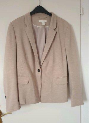 H&M Basic Blazer in jersey beige