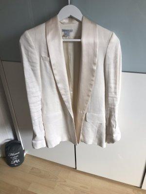 H&M Blazer de esmoquin beige claro-crema