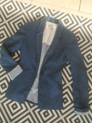 Bershka Blazer in tweed blu scuro