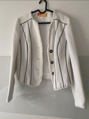 Biba Krótka kurtka biały-czarny