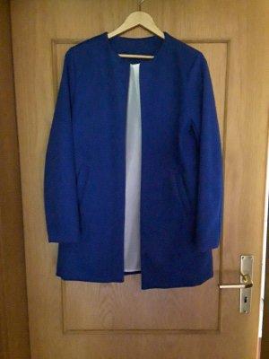 100% Fashion Krótka marynarka niebieski