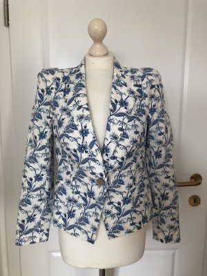 Blazer Blumenprint weiß blau