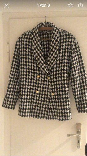 SheIn Knitted Blazer white-black