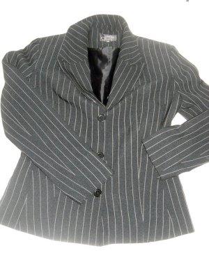 Blazer Boyfriend Jacke schwarz Streifen weiß fein Vestino Due 36 38 40 S H M L