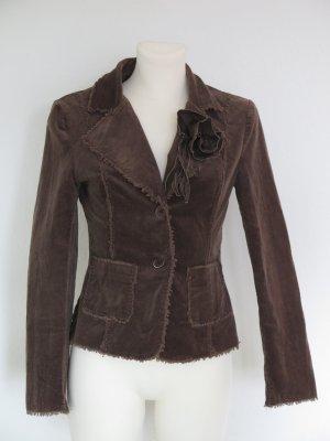 Melrose Short Blazer brown cotton