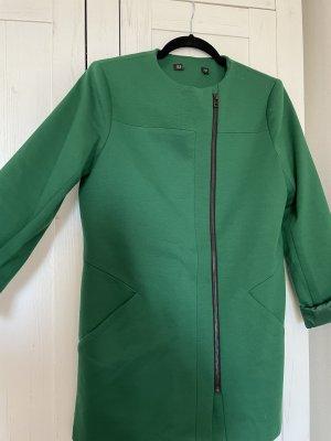 Zara Leather Blazer forest green