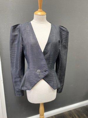 3 Suisses Blazer de esmoquin negro-color plata