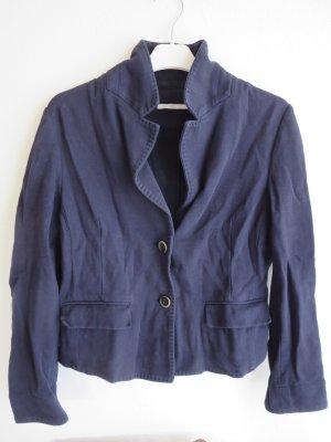 Brax Blazer in jersey blu scuro Cotone
