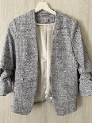 H&M Korte blazer wit-blauw