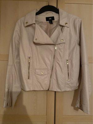 H&M Leather Blazer cream-nude