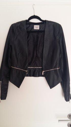 Pimkie Leather Blazer black-silver-colored