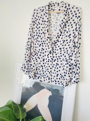 Anna Glover × H&M Klassischer Blazer ciemnoniebieski-w kolorze białej wełny