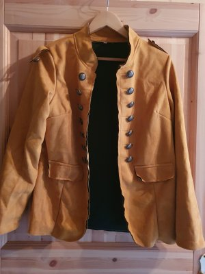 Boyfriend Blazer gold orange-black mixture fibre