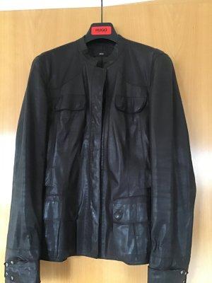 Hugo Boss Blazer in pelle marrone-nero Pelle
