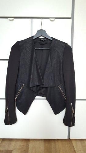 Amisu Blazer en cuir noir