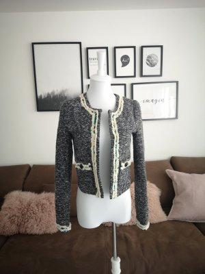Blazer - Damen Review Blazer Im Tweed Look Schwarz High Quality