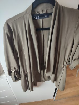 Zara Jersey blazer groen-grijs