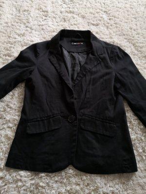 Fishbone Jersey blazer zwart