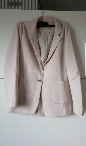 Only Blazer tejido rosa empolvado-rosa