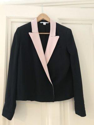 Diane von Furstenberg Blazer smoking nero-rosa pallido