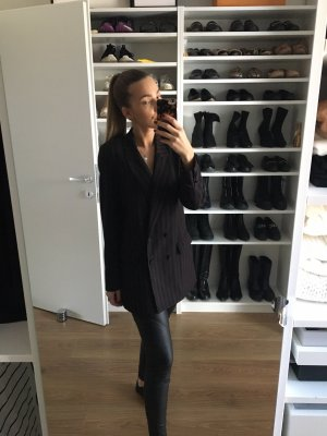 H&M Smokingblazer zwart bruin-donkerblauw