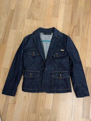 Dsquared2 Blazer en jean bleu foncé