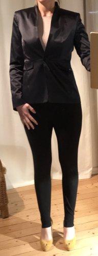 Blazer, dunkelblau mit Glanz-Schimmer, Größe 38