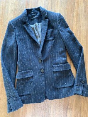 Set Wollen blazer donkerblauw-wit