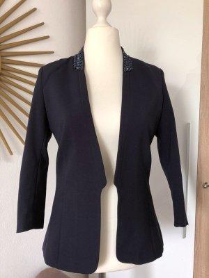 H&M Lange blazer donkerblauw-blauw
