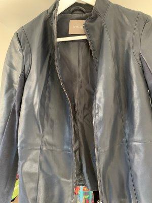 Orsay Leather Blazer dark blue