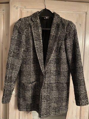 H&M Blazer de lana negro-blanco