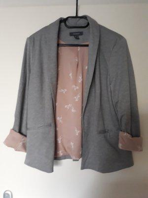 Primark Blazer in lana grigio chiaro-rosa antico