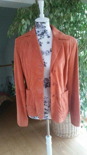 Jake*s Leather Blazer apricot