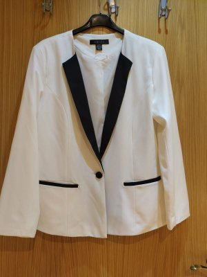 Amisu Klassischer Blazer zwart-wit
