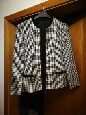 Delmond Blazer en tweed blanc-noir