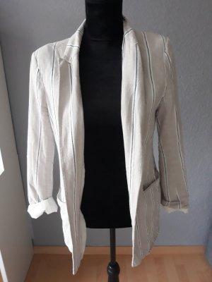 H&M Jersey Blazer white-cream